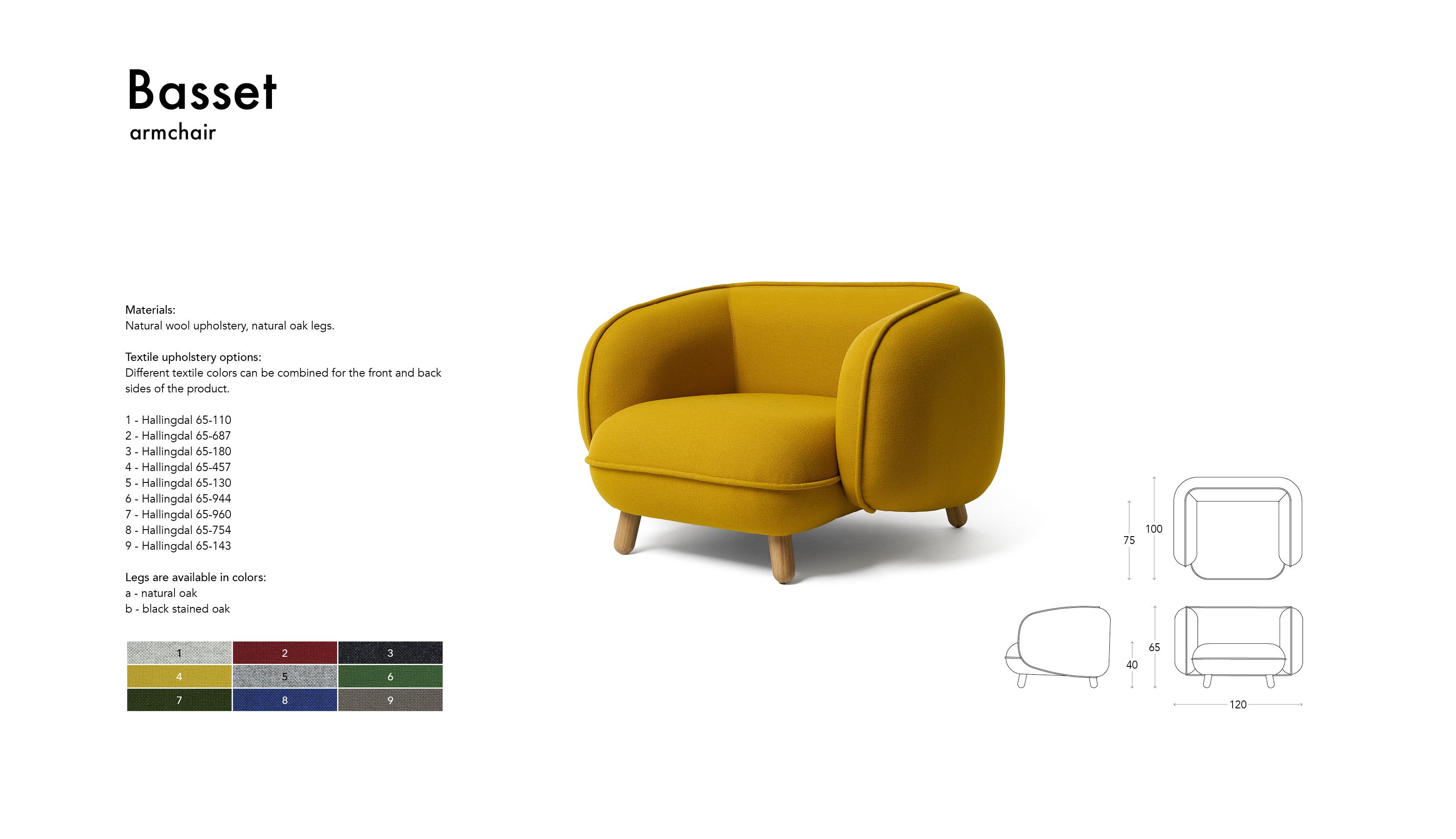 Basset arm chair